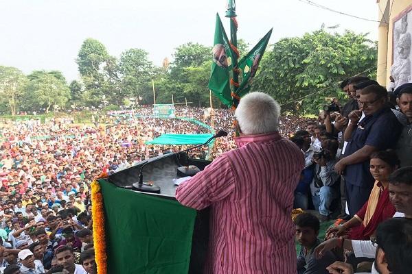 आखिरकार भागलपुर रैली में लालू यादव ने बताया महागठबंधन टूटने का कारण, सृजन घोटाला….