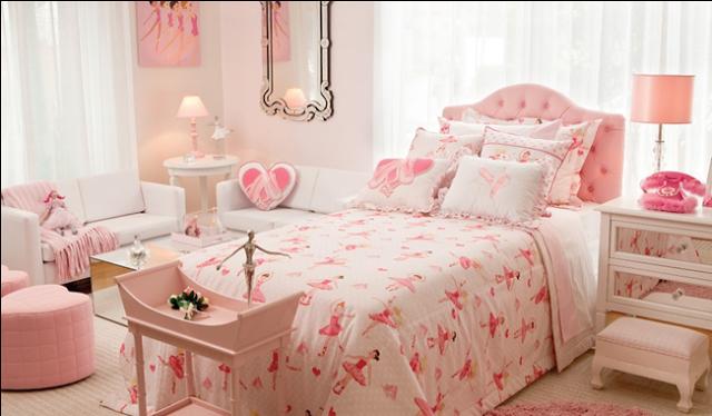 Cuarto para chica color rosa