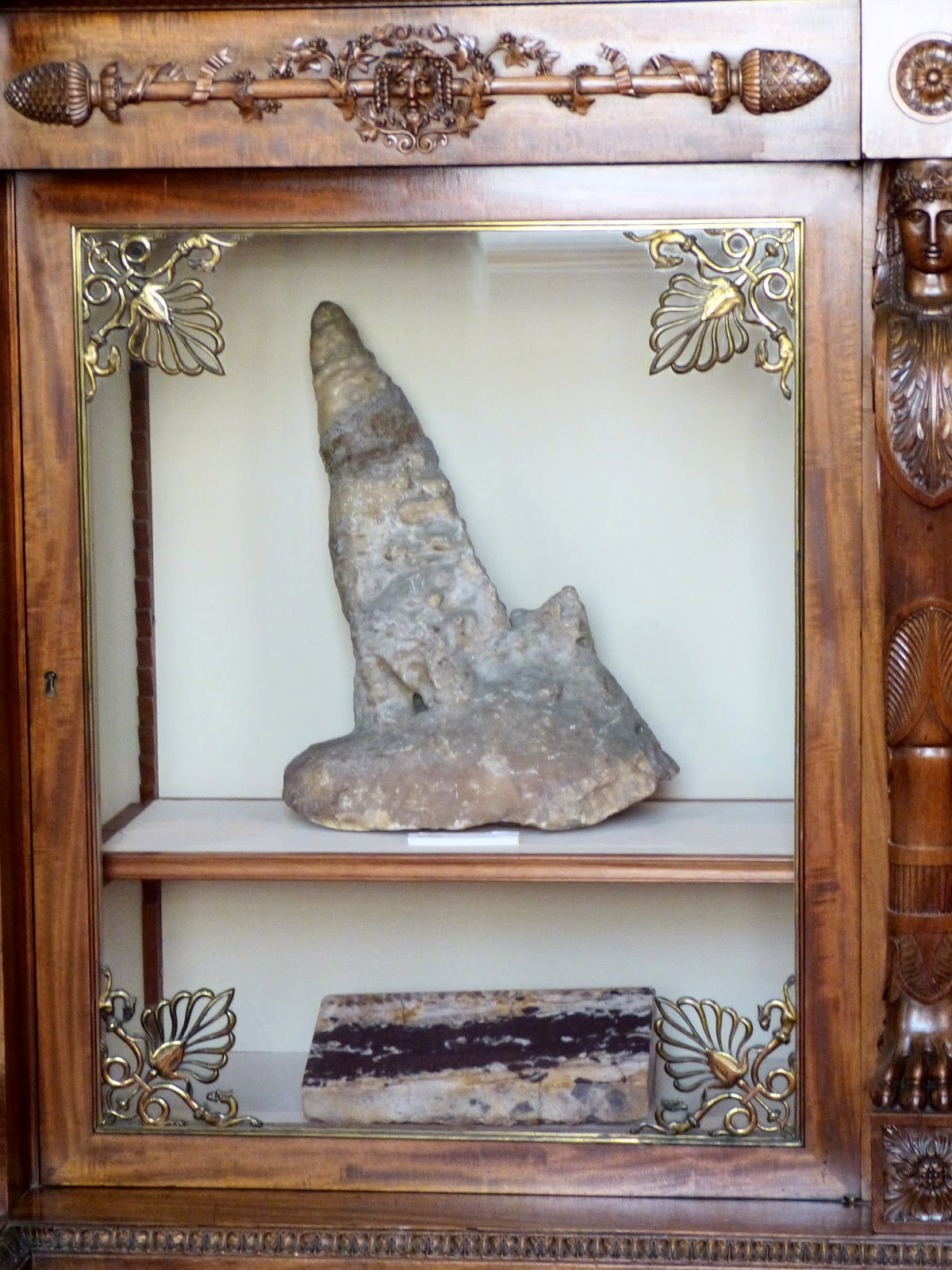 Part of the mineral collection on display  in the South Sketch Gallery, Chatsworth