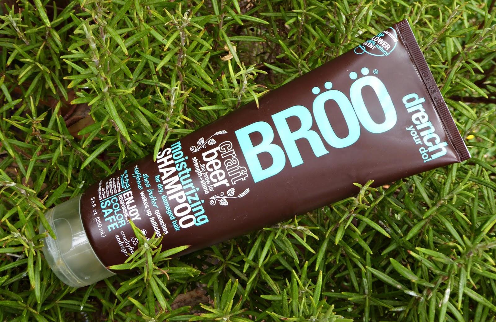 iHerb: Moisturizing Shampoo de Broo. Champú de cerveza y karité para cabello seco y dañado