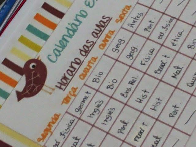 organizando calendário escolar