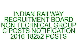 RRB JOBS GROUP C RECRUITMENT NOTIFICATION