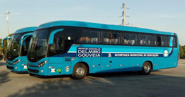 Em Delmiro Gouveia, novos ônibus são entregues a Secretaria Municipal de Educação