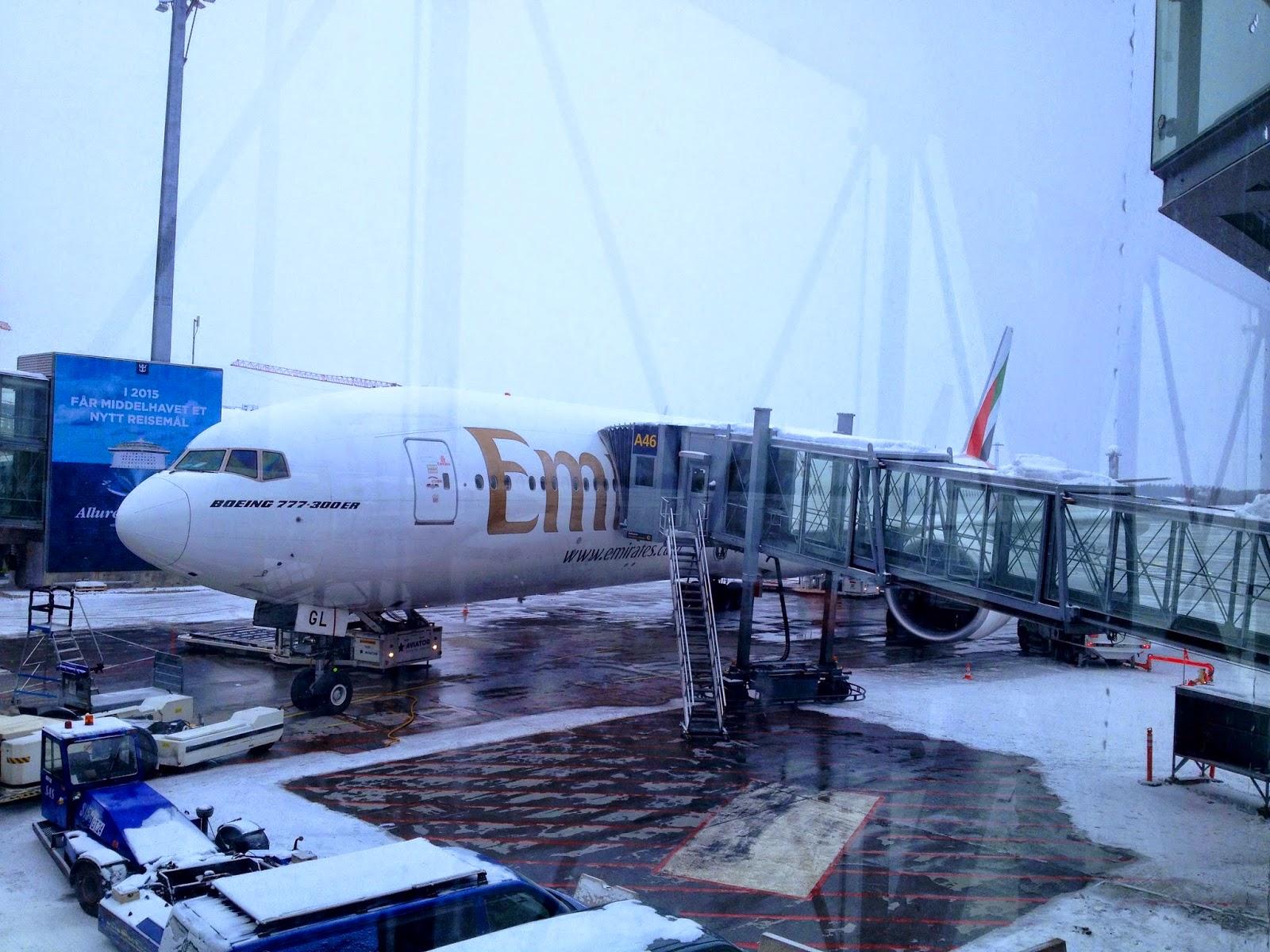 God avgangstid for Emirates fra OSL
