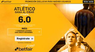 betfair supercuota Eibar v Atlético Liga 7 enero 2017