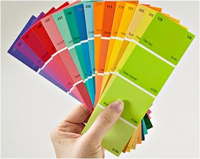 Contoh kartu warna cat  tembok Propan