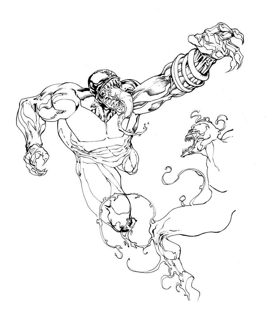 anti venom and venom coloring page coloring pages