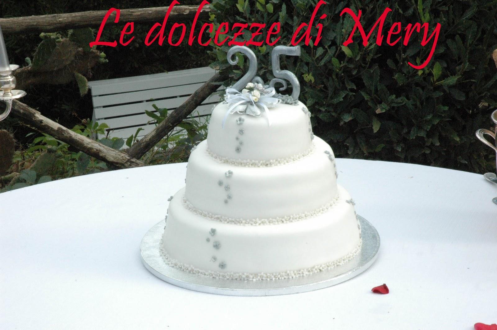 Conosciuto v´¯`×)(^) Le dolcezze di Mery (^)(×´¯`v^··: Torta 25 anni di  JQ65