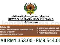 Dewan Bahasa Dan Pustaka - Gaji RM1,353 - RM9,544