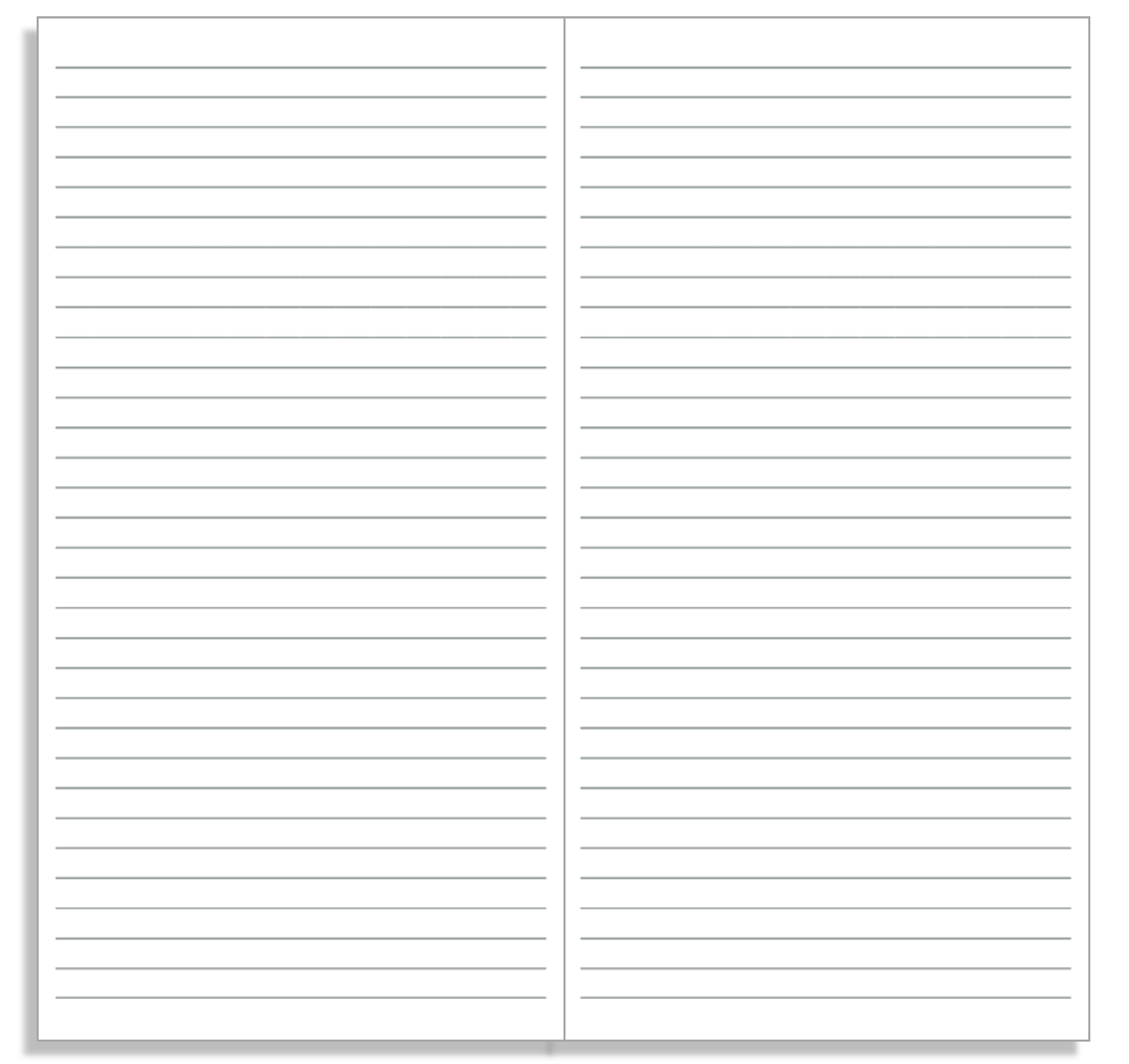 Notebook Paper You Can Print – Lined Notebook Paper Template