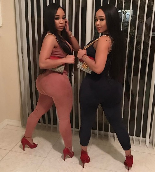 image Double dose twins oily twerking