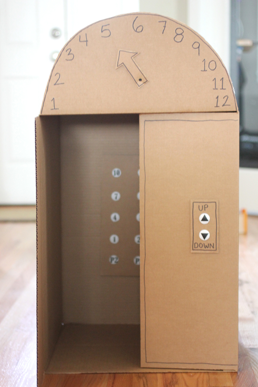 Cardboard Box Elevator With Push Ons