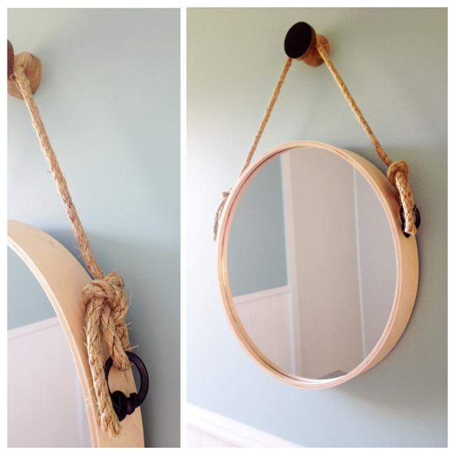 one red shed home design life diy round rope mirror. Black Bedroom Furniture Sets. Home Design Ideas