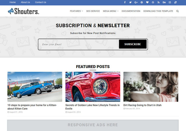 Download Shouter Blogger Template