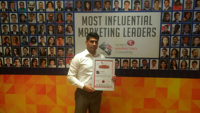 Amit Bhatia with Award Certification