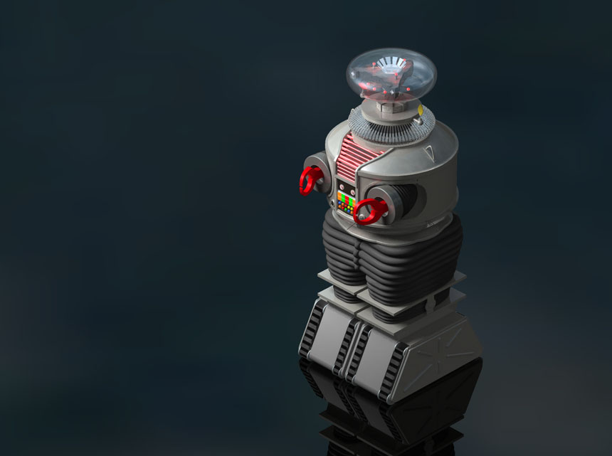 "3D illustration of B9 — from the 1965 TV show, ""Lost in Space"""