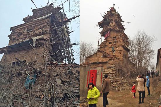 Torre da morte em Shandong na China construída por Hu Guangzhou