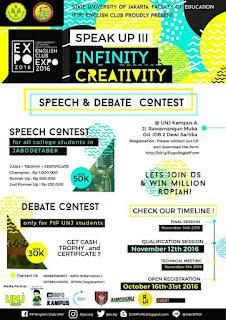 EXPO 2016 SPEAK UP III : Infinity Creativity