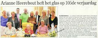 Ariane Heerebout op 105-jarige leeftijd