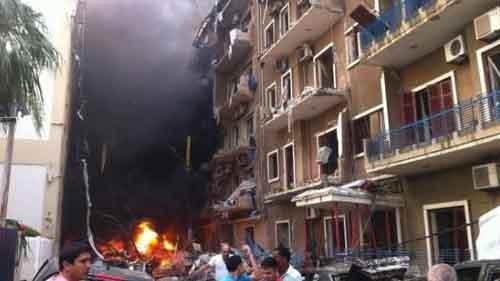 بالصور والفديو انفجار يهز بيروت من قليل