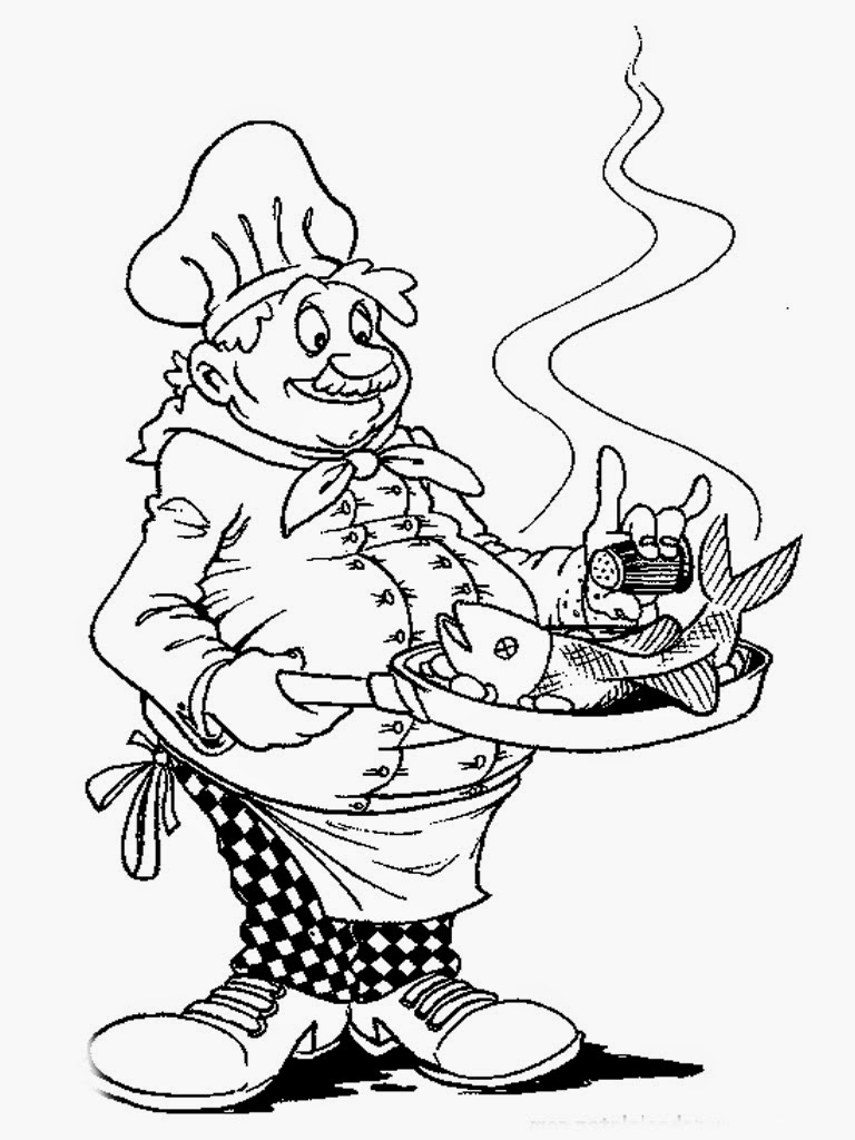 Chef Coloring Pages | Realistic Coloring Pages