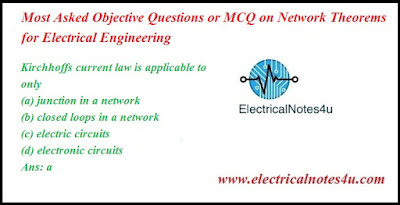 MCQ on Network Theorems for Electrical Engineering