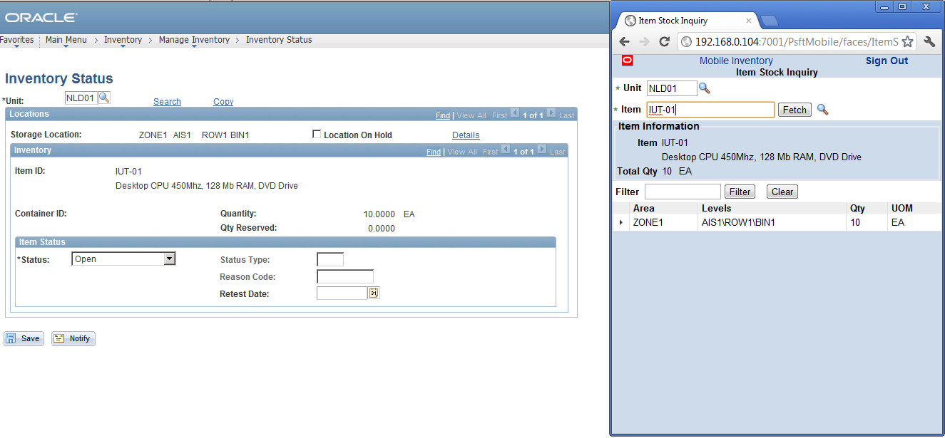 peoplesoft inventory mobile financials installing hakan start