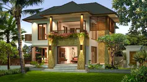 Contoh Desain Rumah Villa Minimalis