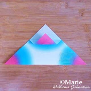 Folding triangle paper