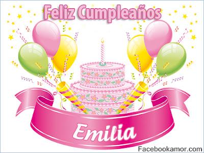 Resultado de imagen para feliz cumpleaños emilia