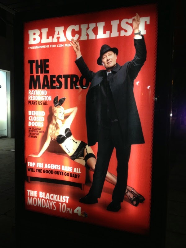 The Blacklist season 2 Playboy magazine homage poster