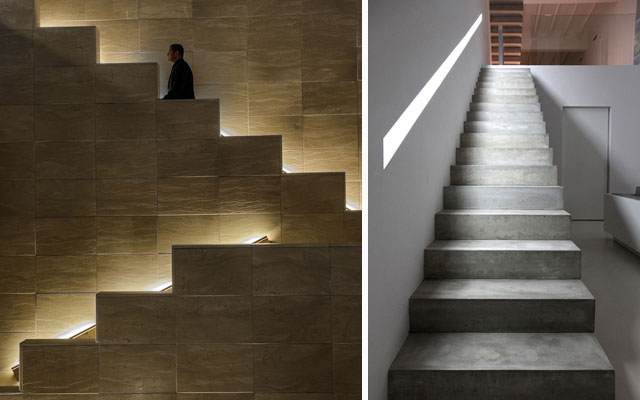 Marzua ideas para decorar escaleras con luz - Luces en escaleras ...