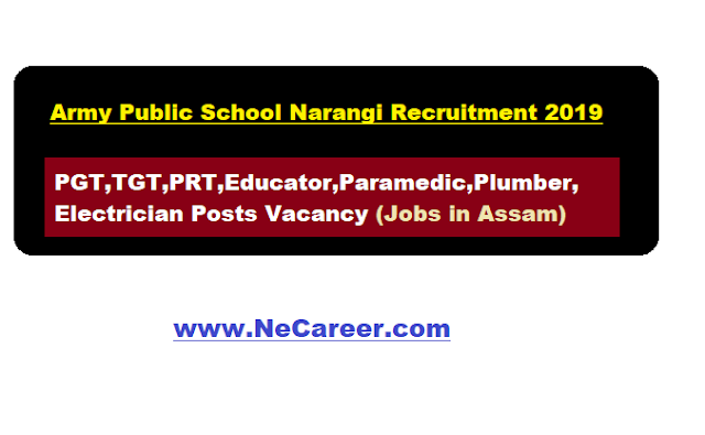 army public school narangi recruitment 2019 jobs