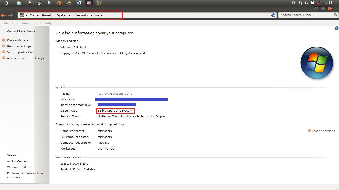 Sistem Operasi, Windows 32bit dan 64bit