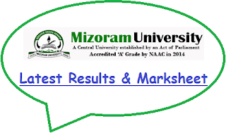 Mizoram University Results April/May 2021