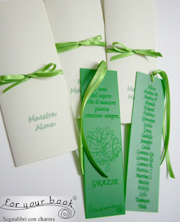 segnalibro inciso regalo personalizzato  maestre elenco alunni