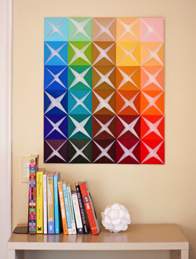 Make Easy Diy Wall Art From Folded Paper How About Orange