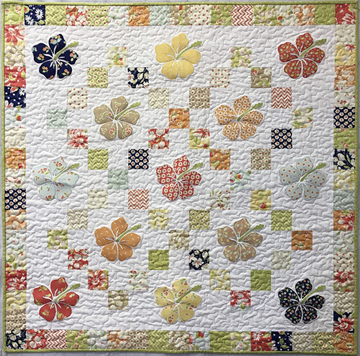 Hawaiian Charm Quilt Free Pattern designed by Seattle Quilt Company