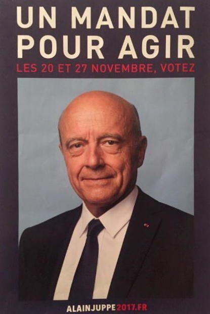 L'affiche de campagne d'Alain Juppé pour la primaire