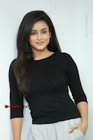 Telugu Actress Mishti Chakraborty Latest Pos in Black Top at Smile Pictures Production No 1 Movie Opening  0222.JPG