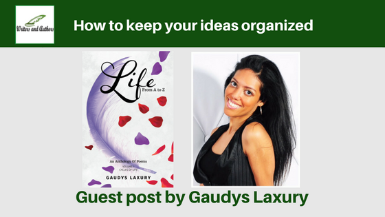 How to keep your ideas organized, guest post by Gaudys Laxury @GaudysLaxury @iReadBookTours