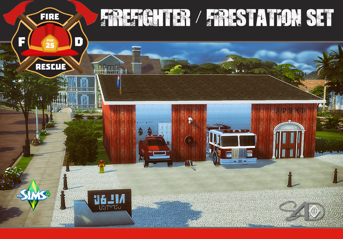 206 best images about sims 3 on pinterest dots sims 4 and warm - Ts3 Firefighter Fire Station Conversions By Daer0n