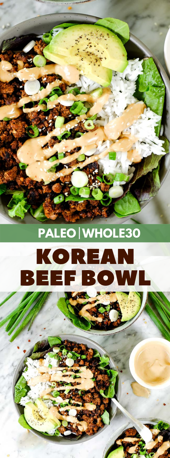 KOREAN BEEF BOWL (PALEO + WHOLE30) #dietrecipes #koreanfood