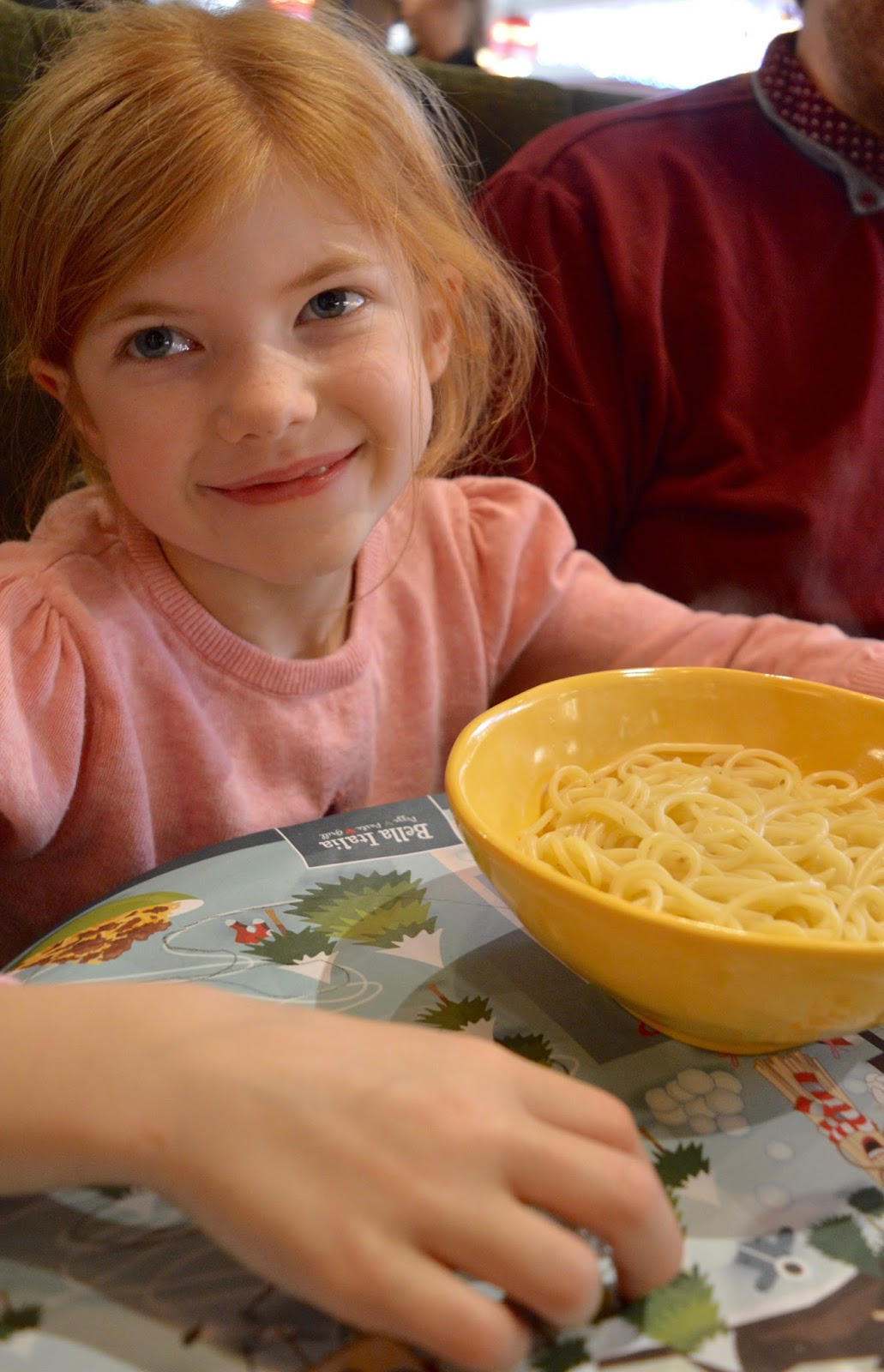 Bella Italia at intu Eldon Square Newcastle | Children's Menu Review - kids plain pasta