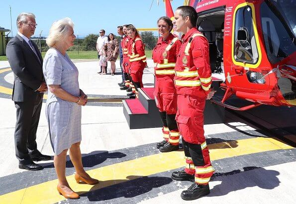 The Duke and Duchess of Cornwall visited Tintagel Castle. The Duchess visited the Cornwall Air Ambulance base in Newquay