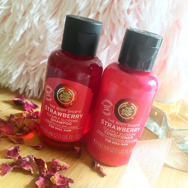 The body shop strawberry shampoo and conditioner