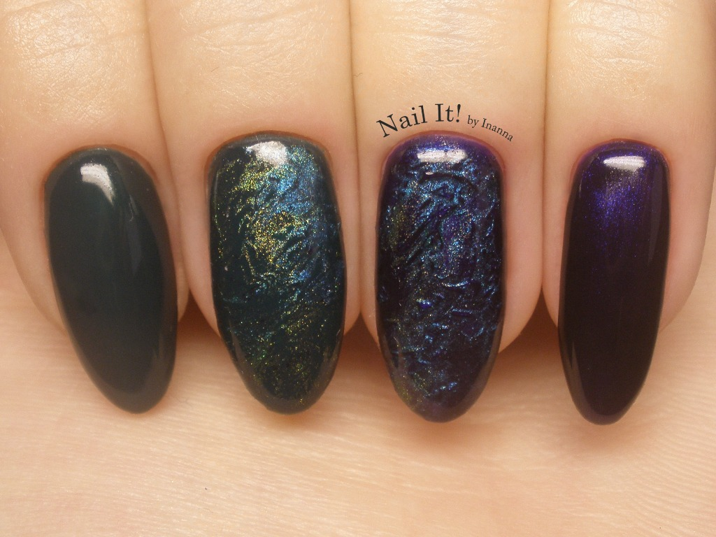 Texture Nail Art With Indigo Nails Gel Polishes Admiral And