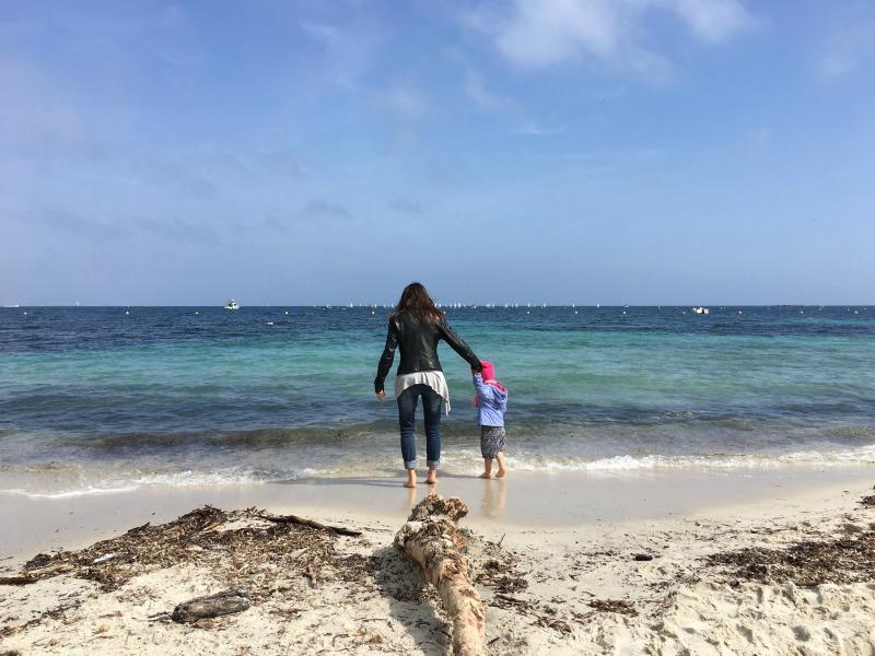 la spiaggia di antibes a marzo