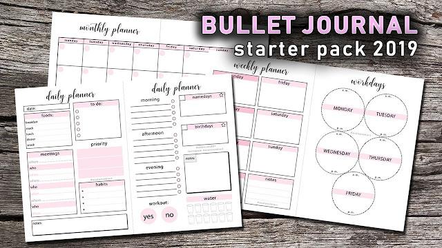 Bullet Journal 2019 starter pack