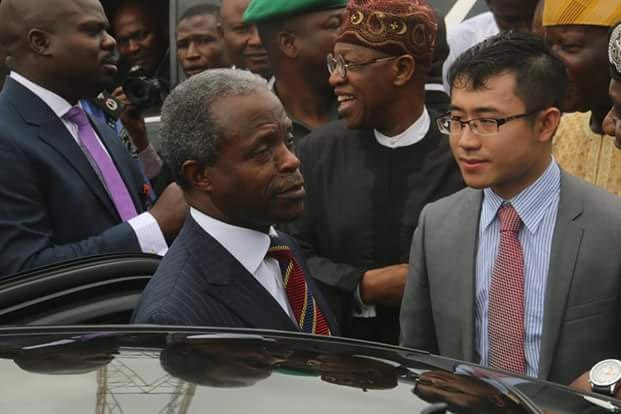 Osinbajo, Lai Mohammed at foundation laying of Police Crime Database